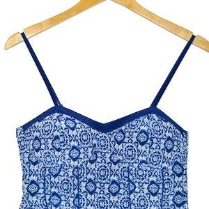 Blue Paisley Jumpsuit Size Small